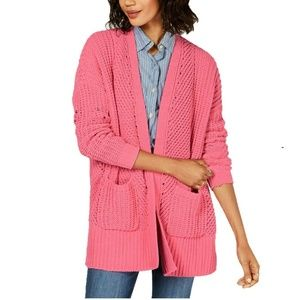Style & Co L Chenille Open front Cardigan 4AB51